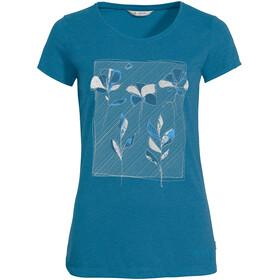 VAUDE Skomer Print Maglietta Donna, blu